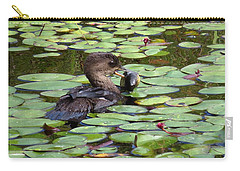 Bullfrog For Breakfast Carry-all Pouch by I'ina Van Lawick