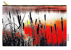 Bullrushes Against The Sunset Carry-all Pouch