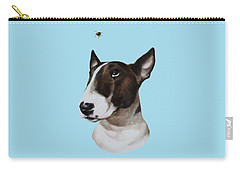 Carry-all Pouch featuring the painting Bully And Bee by Jindra Noewi