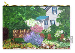 Bully Hill Vineyard Carry-all Pouch by Cynthia Morgan