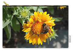 Bumble Bee Collecting Pollen On Sunflower Carry-all Pouch