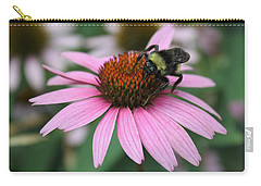 Bumble Bee On Pink Coneflower Carry-all Pouch