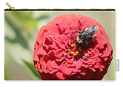 Bumble Bee On Zinnia Carry-all Pouch