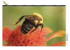 Carry-all Pouch featuring the photograph Bumblebee by Chris Berry