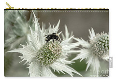 Bumblebee On Thistle Flower Carry-all Pouch