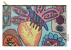 Carry-all Pouch featuring the painting Bumblefly by Brandon Drucker