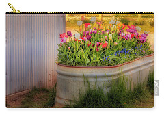 Carry-all Pouch featuring the photograph Bunch Of Tulips by Susan Candelario
