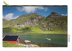 Bunesfjord With Rorbu And Boat Carry-all Pouch by Aivar Mikko