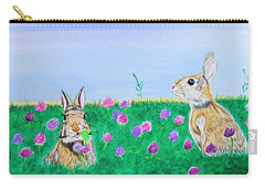 Bunnies In Clover Carry-all Pouch