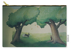 Bunnies Running Under Trees Carry-all Pouch