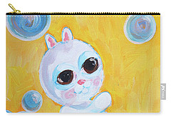 Bunny And The Bubbles Painting For Children Carry-all Pouch by Shelley Overton