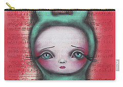 Bunny Girl Carry-all Pouch by Abril Andrade Griffith