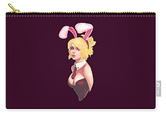 Bunny Girl T-shirt Carry-all Pouch by Herb Strobino