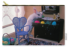 Bunny In Small Room Carry-all Pouch by Garry Gay
