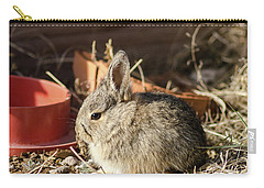 Bunny In The Garden Carry-all Pouch