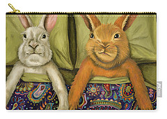 Bunny Love Carry-all Pouch by Leah Saulnier The Painting Maniac