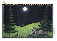 Bunny Visits Wolf Carry-all Pouch