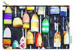 Carry-all Pouch featuring the photograph Buoy Art by Bill Holkham