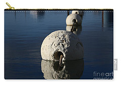 Carry-all Pouch featuring the photograph Buoy Upfront by Stephen Mitchell