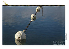 Carry-all Pouch featuring the photograph Buoys In Aligtnment by Stephen Mitchell