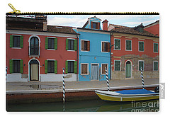 Burano Italy Boat Reflection Carry-all Pouch