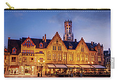 Burg Square Architecture At Night - Bruges Carry-all Pouch