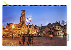 Burg Square At Night - Bruges Carry-all Pouch
