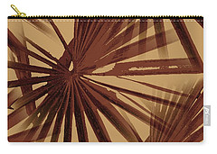 Burgundy And Coffee Tropical Beach Palm Vector Carry-all Pouch