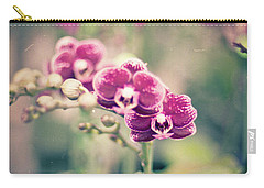 Burgundy Orchids Carry-all Pouch by Ana V Ramirez