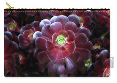 Burgundy Succulenta Carry-all Pouch