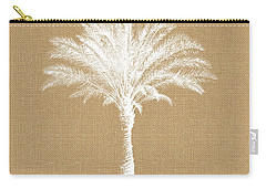 Burlap Palm Tree- Art By Linda Woods Carry-all Pouch