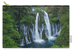 Carry-all Pouch featuring the photograph Burney Creek Falls by Patricia Davidson