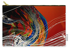 Burning City Sunset Carry-all Pouch by Thibault Toussaint