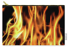 Burning Flames Fractal Carry-all Pouch