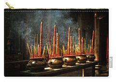 Burning Incense Carry-all Pouch