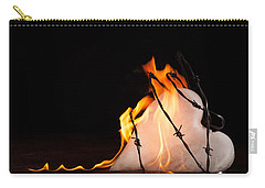 Carry-all Pouch featuring the photograph Burning Love by Yvette Van Teeffelen