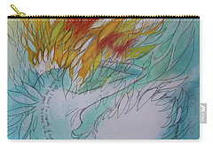 Carry-all Pouch featuring the drawing Burning Thoughts by Marat Essex