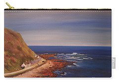Carry-all Pouch featuring the painting Burnmouth Scotland by Beatrice Cloake