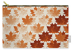 Burnt Sienna Autumn Leaves Carry-all Pouch by Methune Hively