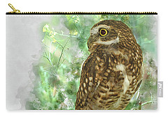 Burrowing Owl In Profile Carry-all Pouch