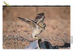 Burrowing Owlet Stretching His Wings Carry-all Pouch