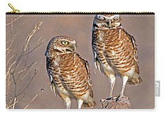 Burrowing Owls At Salton Sea Carry-all Pouch