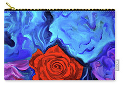 Bursting Rose Carry-all Pouch by Jenny Lee