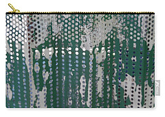 Carry-all Pouch featuring the photograph Bus Stop Art by Esther Newman-Cohen