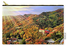 Bus With A View Carry-all Pouch by Jennie Breeze