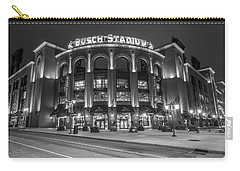 Busch Stadium St Louis Black And White  Carry-all Pouch