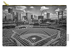Busch Stadium St. Louis Cardinals Black White Ballpark Village Carry-all Pouch