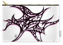 Carry-all Pouch featuring the drawing Bushal A Thorns Pink by Jamie Lynn