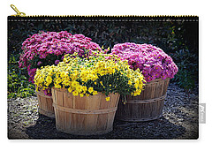 Carry-all Pouch featuring the photograph Bushels Of Fall Flowers by AJ Schibig