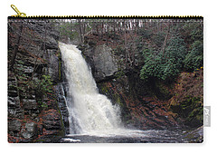 Carry-all Pouch featuring the photograph Bushkill Falls by Linda Sannuti